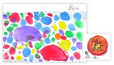The dot is an amazing book-my four year old's favourite! Can't wait to do this related art activity with my class!