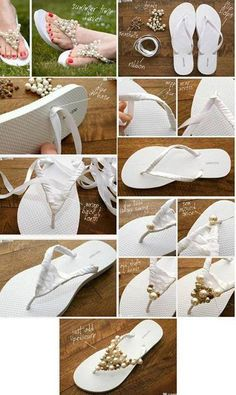 Cool make your own fancy flip flops