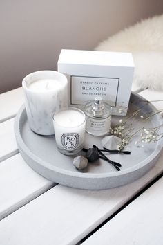 A Cup of Chic | Life/Style + Little Ones - Zakkia Grey Concrete Round Tray