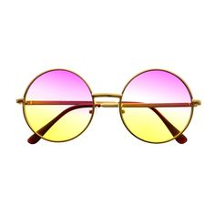 Two Tone Lens Retro Vintage Fashion Gold Metal Frame Round Sunglasses – FREYRS - Beautifully designed, cheap sunglasses for men & women