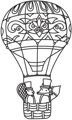 1000 Images About Adult Colouring Hot Air Balloons On