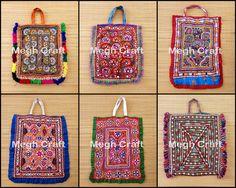 Vintage Banjara Tribal Bag Kutchi mirror work Gypsy Ethnic theli Bag-  BY #CraftsOfGujarat #craftnfashion #meghcraft #indianethnicjewery