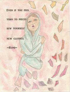 Rumi quotes inspire me. 2011 work