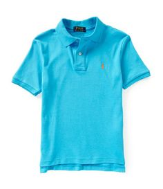 Polo by Ralph Lauren - Classic Interlock Cotton Polo Shirt - SS - Cove Blue - $35.00 - size:  3T