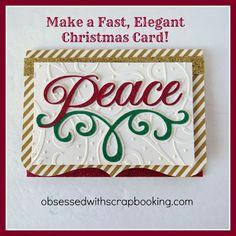 [Video]Anna Griffin Cricut Winter Wonderland Peace Christmas Card
