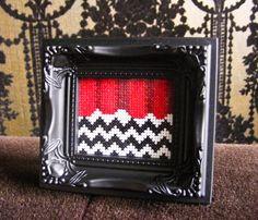 The Black Lodge - Twin Peaks Miniature Cross-Stitch