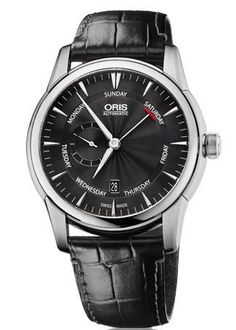@oris Watch Artelier Small Second Pointer Day Leather #add-content #bezel-fixed #bracelet-strap-leather #brand-oris #case-material-steel #case-width-44mm #date-yes #day-yes #delivery-timescale-4-7-days #dial-colour-black #gender-mens #limited-code #luxury #movement-automatic #official-stockist-for-oris-watches #packaging-oris-watch-packaging #style-dress #subcat-artelier #supplier-model-no-01-745-7666-4054-07-5-23-71fc #water-resistant-50m