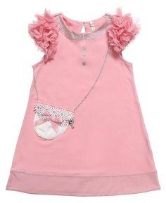 Pink Cotton Handbag Dress 27.00 £ - Mayoral Chic #MyChildWorld