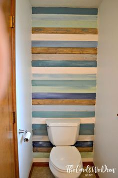 DIY Coastal Planked Wall