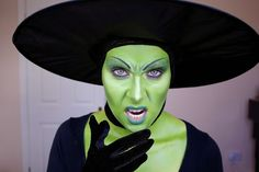 www.LetzMakeupBlog.com: The Wicked Witch of the West; Halloween makeup tutorial.