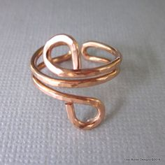 Adjustable Copper Wire Wrap Finger Toe Ring – Lexi Butler Designs