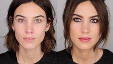 Make-up artist Lisa Eldridge shows Alexa Chung how to get ride of 'winter face'.
