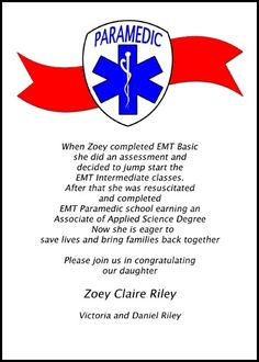customize your announcements for paramedic EMT graduation and graduation invitations for emergency medical technician commencement ceremony and then preview it instantly before paying at InvitationsByU, card 7613IBU-LM, with tons of discounts and promos
