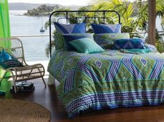 Printed cotton sateen 300 thread count.