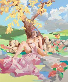 Stefan Dunlop: Woman in landscape ll