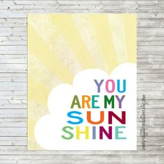 A Proffittable Life: You are my Sunshine free printable