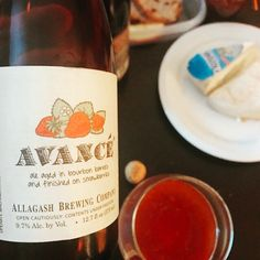 Avancé by @allagashbrewing  Three years in bourbon barrels with strawberries - great. Things come to those who wait.  Plenty of sour and complexity AND drinks so nice. This is a truly special beer from the masters up in Maine. #allagashbrewing #sourbeer #bourbonbarrelaged #strawberries #strawberrybeer #wildale #portlandmaine #avancé #craftbeer #craftbeerporn #beer #beerstagram #beertography #instabeer #beernerd #beerpic #fanaticbeer #beerme #goodbeer #thebeergame #goodbeerhunting #beergasm…