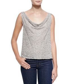 Viola Open-Back Sequined Top by Alice + Olivia at Neiman Marcus.