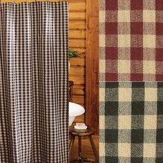 Heritage House Check Shower Curtains More Information Our Classic Ruffled Ticking Stripe