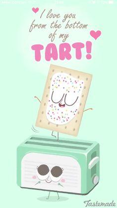 Tastemade food illustrations on snapchat. Cute pop tart