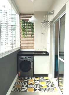 Laundry Room Ideas: An Extra Function for Your Balcony - Unique Balcony Garden Decoration and Easy DIY Ideas Kitchen Room Design, Home Room Design, Interior Design Kitchen, House Design, Outdoor Laundry Rooms, Tiny Laundry Rooms, Small Balcony Decor, Balcony Design, Laundry Room Inspiration
