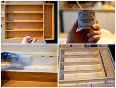 How to make a cutlery tray shelf DIY