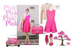 """pink mobil"" by zozanazozane ❤ liked on Polyvore featuring INDIE HAIR, Breckelle's and Jules Smith"