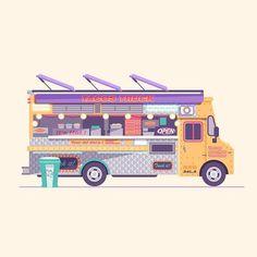L.A Street food truck #losangeles #food #hotdog #streetfood #tacos #tortillas #fastfood #streetart #urban #flatdesign #newyorkcity #newyork #bigapple #flat #iconaday #minimalism #instafun #illustration #vector @bestvector #bestvector #illustree @illustree @picame #picame #color @thedesigntip #thedesigntip #behance #dribbble #graphicdesign by http://ift.tt/1JJSRYv