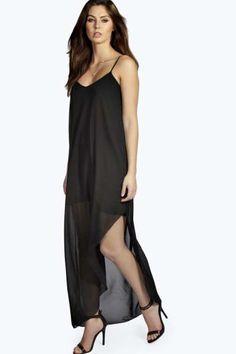 Tilly Strappy Asymmetric Maxi Dress at boohoo.com