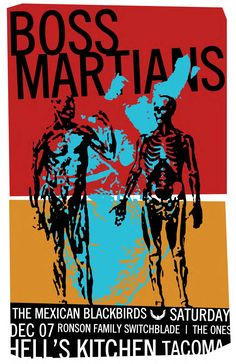 Boss Martians, The Mexican Blackbirds, Ronson Family Switchblade and The Ones at Hell's Kitchen in Tacoma Hells Kitchen, The Martian, Blackbirds, Boss, Mexican, Budget, Posters, Mars, Poster