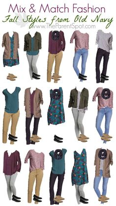 15 Affordable Mix and Match Fall Outfits from Old Navy