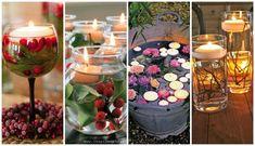 Veamos algunas opciones decorativas realizadas a partir de velas flotantes. ¡Os encantarán!
