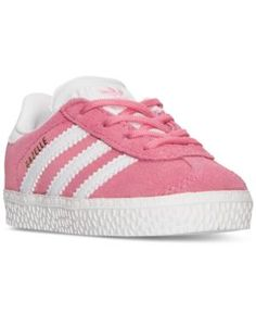 adidas Toddler Girls' Gazelle Casual Sneakers from Finish Line - PINK/WHITE 5