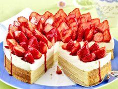 Erdbeertorte - einfach himmlisch!  - baumkuchen-erdbeer-torte