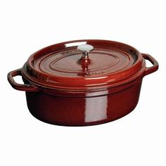 Cast Iron & Dutch Ovens - Pin it! :)  Follow us :))  zCamping.com is your Camping Product Gallery ;) CLICK IMAGE TWICE for Pricing and Info :) SEE A LARGER SELECTION of cast iron & dutchovens at http://zcamping.com/category/camping-categories/camping-cooking-and-food/cast-iron-and-dutch-ovens/ - hunting, camping essential, camping accessories, camp utensils, kitchen utensils, camping cookware  -  4 1/4-Qt. Oval Dutch Oven Color: Grenadine « zCamping.com