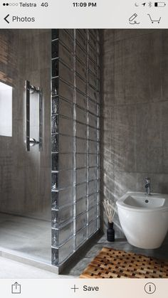 Love the dividing wall and the glass bricks