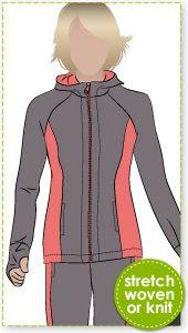 Sunday Zip Jacket Sewing Pattern By Style Arc - Designer zip front hooded walking jacket Coat Pattern Sewing, Coat Patterns, Jacket Pattern, Pdf Sewing Patterns, Clothing Patterns, Sewing Tutorials, Sewing Ideas, Vest Coat, Vest Jacket
