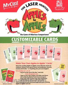 how to make your own apples to apples game games pinterest