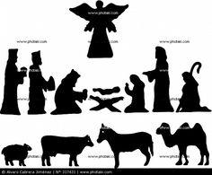 Nacimiento de Jesus en silueta