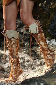 gypsy boots ~ indigo sunshine