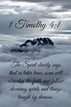 1 Timothy 4:1 ~ Fight the Good Fight 'til the end of times no matter how challenging!