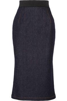 877c7913b9c Dark-blue stretch-denim Concealed zip fastening along back 90% cotton