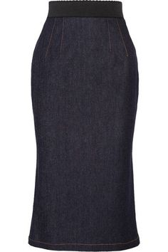 Dark-blue stretch-denim  Concealed zip fastening along back  90% cotton, 8% polyester, 2% elastane Machine wash  Made in Italy