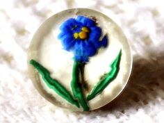 Facetted Glass Flower Button Lovely Little Vintage Flower Button, Paper Weights, All Things, Buttons, Glass, Handmade, Vintage, Style, Swag