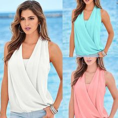 Sexy Women Summer Vest Top Sleeveless Blouse Casual Tank Tops T-Shirt Blouse lot #Unbranded #PoloShirt #Casual