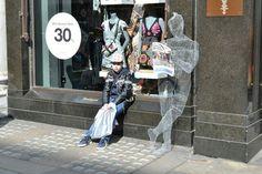 My wire sculpture in London. Regent Street