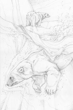 Bergsma Gallery Press::Paintings::Originals::Original Sketches::2013/Polar Bear - Original Sketch