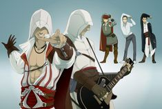 """Ezio is too sexy for an Assassin. """"I'm too sexy for an Assassin"""" by doubleleaf… Best Assassin's Creed, Assessin Creed, Assassins Creed Memes, Cry Of Fear, Assassin's Creed Wallpaper, Assassin's Creed Brotherhood, Edwards Kenway, Manga, Funny Stuff"""