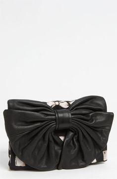 07927d310782 RED Valentino 'Bow' Print Clutch - A playfully oversized bow crafted from  supple calfskin