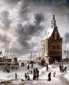 Town Gate Of Hoorn by Beerstraaten, Jan Abrahamz - Wall Art Giclee Print or Canvas